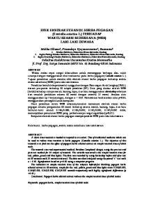 EFEK EKSTRAK ETHANOL HERBA PEGAGAN (Centella asiatica L.) TERHADAP WAKTU REAKSI SEDERHANA (WRS) LAKI-LAKI DEWASA