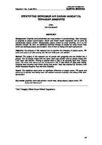 EFEKTIFITAS BERKUMUR AIR GARAM HANGAT 2% TERHADAP GINGIVITIS