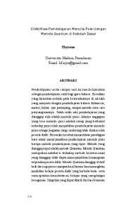 Efektifitas Pembelajaran Menulis Puisi dengan Metode Quantum di Sekolah Dasar. Harsono. Universitas Madura, Pamekasan