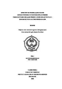 EFEKTIFITAS PEMBELAJARAN SAINS DENGAN PENDEKATAN KETERAMPILAN PROSES TERHADAP HASIL BELAJAR PESERTA DIDIK KELAS VII
