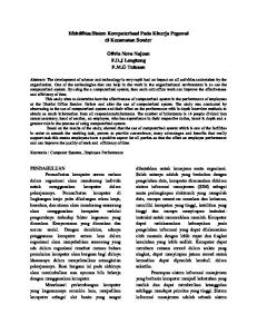 Efektifitas Sistem Komputerisasi Pada Kinerja Pegawai di Kecamatan Sonder. Olivia Nova Najoan F.D.J Lengkong F.M.G Tulusan