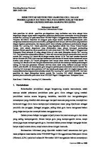 EFEKTIVITAS METODE THE LEARNING CELL DALAM PEMBELAJARAN MATEMATIKA PADA SISWA KELAS VIII SMP NEGERI 4 SUNGGUMINASA KABUPATEN GOWA