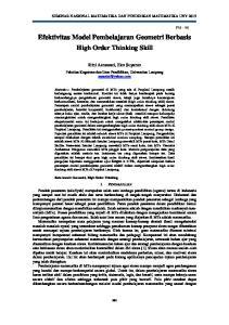Efektivitas Model Pembelajaran Geometri Berbasis High Order Thinking Skill