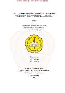 EFEKTIVITAS PEMAPARAN INVOLUNTARY ATTENTION TERHADAP TINGKAT ATENSI PADA MAHASISWA