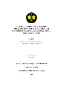 EFEKTIVITAS PENGGUNAAN JOBSHEET TERHADAP HASIL BELAJAR MATA KULIAH KONSTRUKSI  POLA BUSANA PADA MAHASISWA TATA BUSANA UNNES - PDF Free Download bc26ea236c