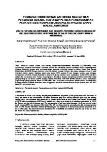 Abstract the effect of concentration of addition iota carrageenan effect of maleic anhydride and benzoyl peroxide concentration on the grafting degree in synthesis of ccuart Gallery
