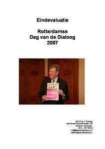 Eindevaluatie Rotterdamse Dag van de Dialoog 2007