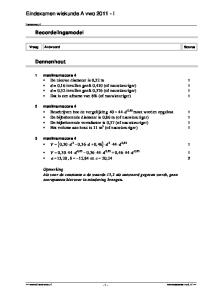 Eindexamen wiskunde A vwo I