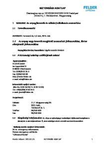 EK Szabályzat (REACH), II. Mellékletével- Magyarország