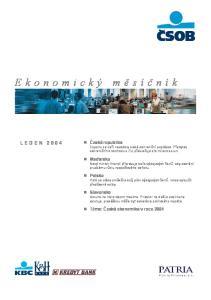 Ekonomický měsíčník LEDEN 2004