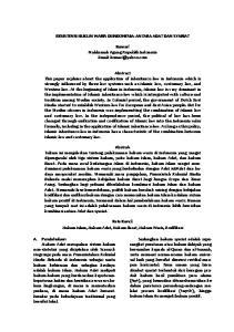 EKSISTENSI HUKUM WARIS DI INDONESIA: ANTARA ADAT DAN SYARIAT. Komari Mahkamah Agung Republik Indonesia