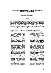 EKSISTENSI PERBANKAN SYARI AH DALAM TATA HUKUM PERBANKAN DI INDONESIA. Oleh: Muhammad Fahmul Iltiham. Abstraks
