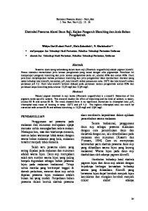 Ekstraksi Pewarna Alami Daun Suji, Kajian Pengaruh Blanching dan Jenis Bahan Pengekstrak. Abstrak