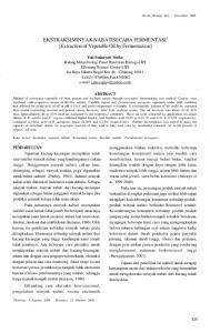 EKSTRAKSIMINYAK NABATISECARA FERMENTASI 1 [Extraction of Vegetable Oil by Fermentation]