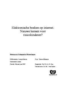 Elektronische boeken op internet: Nieuwe kansen voor risicokinderen?