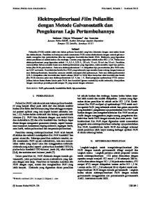 Elektropolimerisasi Film Polianilin dengan Metode Galvanostatik dan Pengukuran Laju Pertumbuhannya