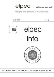 elpec info E C - - C E L P L P E - elektronica pers club OFFICIEEL ORGAAN VAN DE ELEKTRONICA PERS CLUB