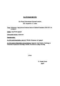 ELŐTERJESZTÉS. Zirc Városi Önkormányzat Képviselő-testülete szeptember 10-i ülésre