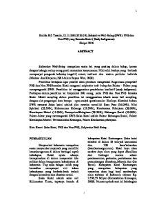 Emilda Rifi Yusnita, , Subjective Well-Being (SWB): PNS dan Non PNS yang Bersuku Kutai ( Study Indigenous). Skripsi 2016 ABSTRACT