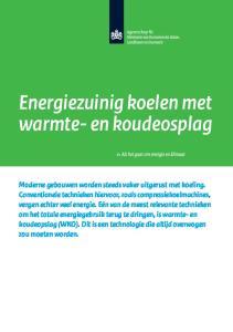 Energiezuinig koelen met warmte- en koudeosplag