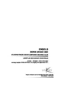 ENGELS DERDE GRAAD ASO LEERPLAN SECUNDAIR ONDERWIJS STUDIERICHTINGEN ZONDER COMPONENT MODERNE TALEN