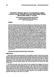 ENRICHMENT SPIRULINA (Spirulina platensis) MEL ALUI CACING (Lumbricus rubellus) TERHADAP Performance KEMATANGAN GONADA INDUK UDANG WINDU (P
