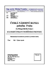 ČESKÁ NÁRODNÍ BANKA pobočka Praha