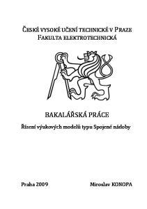 ČESKÉ VYSOKÉ UČENÍ TECHNICKÉ V PRAZE FAKULTA ELEKTROTECHNICKÁ