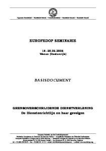 EUROFEDOP SEMINARIE BASISDOCUMENT