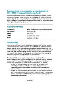 Europees fonds voor aanpassing aan de globalisering ( ) (Europees Globaliseringsfonds)