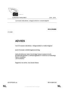 EUROPEES PARLEMENT Commissie milieubeheer, volksgezondheid en voedselveiligheid