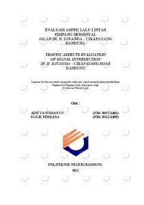 EVALUASI ASPEK LALU LINTAS SIMPANG BERSINYAL JALAN IR. H. DJUANDA - CIKAPAYANG BANDUNG