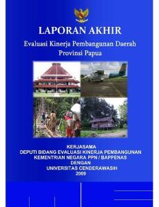 Evaluasi Kinerja Pembangunan Daerah Provinsi Papua 2009 ii