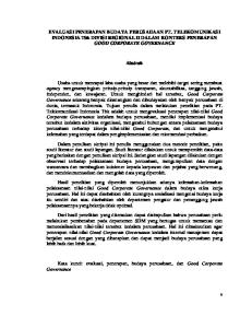 EVALUASI PENERAPAN BUDAYA PERUSAHAAN PT. TELEKOMUNIKASI INDONESIA Tbk DIVISI REGIONAL II DALAM KONTEKS PENERAPAN GOOD CORPORATE GOVERNANCE