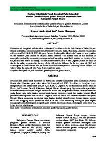 Evaluasi Sifat Kimia Tanah Inceptisol Pada Kebun Inti Tanaman Gambir (Uncaria gambir Roxb.) di Kecamatan Salak Kabupaten Pakpak Bharat