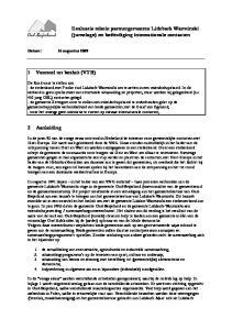 Evaluatie relatie partnergemeente Lidzbark Warminski (jumelage) en beëindiging internationale contacten. 1 Voorstel tot besluit (VTB) 2 Aanleiding