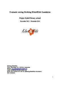 Evaluatie verslag Stichting Kibet4Kids foundation