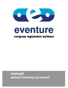 eventure congress registration software manual abstract handling op internet