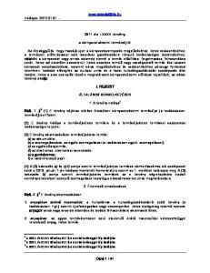évi LXXXV. törvény a környezetvédelmi termékdíjról