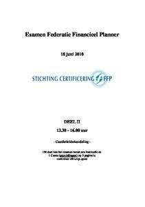 Examen Federatie Financieel Planner