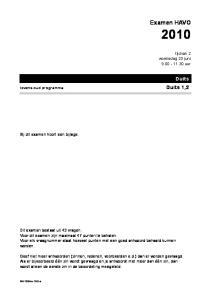 Examen HAVO. Duits. tijdvak 2 woensdag 23 juni uur. Bij dit examen hoort een bijlage