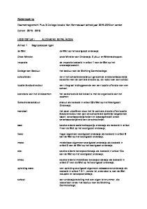 Examenreglement Pius X College locatie Van Renneslaan schooljaar en verder. onze Minister van Onderwijs, Cultuur en Wetenschappen;