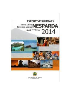EXECUTIVE SUMMARY NERACA SATELIT PARIWISATA JAWA TENGAH 2014