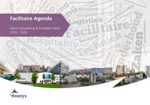 Facilitaire Agenda. Dienst Huisvesting & Facilitaire Zaken
