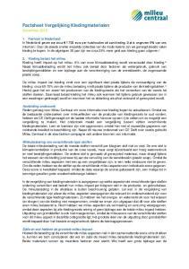 Factsheet Vergelijking Kledingmaterialen November 2015