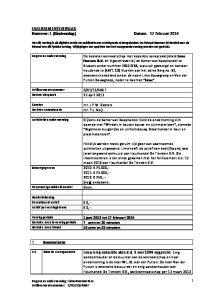 FAILLISSEMENTSVERSLAG Nummer: 1 (Eindverslag) Datum: 17 februari 2014