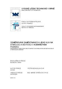 FAKULTA PODNIKATELSKÁ ÚSTAV FINANCÍ FACULTY OF BUSINESS AND MANAGEMENT INSTITUT OF FINANCES