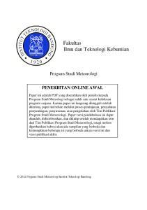 Fakultas Ilmu dan Teknologi Kebumian