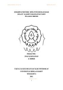 FAKULTAS KEGURUAN DAN ILMU PENDIDIKAN UNIVERSITAS SEBELAS MARET SURAKARTA 2011