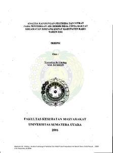 FAKULTAS KESEHATAN MASYARAKAT UNIVERSITAS SUMATERA UTARA